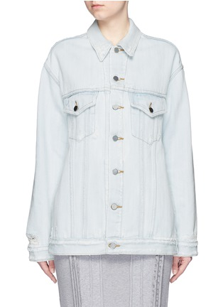 Main View - Click To Enlarge - T By Alexander Wang - 'Daze' distressed oversize denim jacket