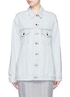 T By Alexander Wang'Daze' distressed oversize denim jacket
