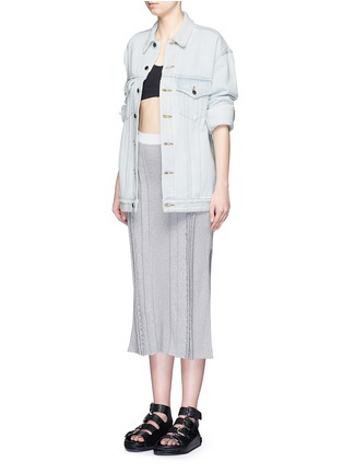 Figure View - Click To Enlarge - T By Alexander Wang - 'Daze' distressed oversize denim jacket