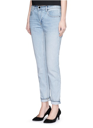 Front View - Click To Enlarge - T By Alexander Wang - 'Wang 002' washed tapered jeans
