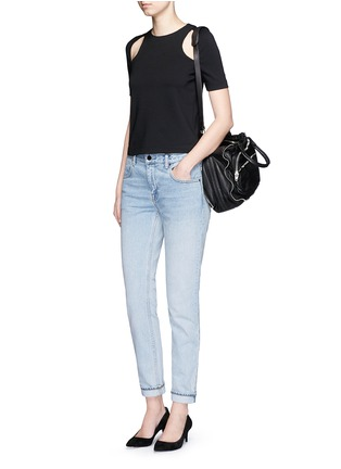 Figure View - Click To Enlarge - T By Alexander Wang - 'Wang 002' washed tapered jeans