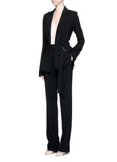 JASON WU D-ring belt crepe jacket