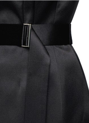 Detail View - Click To Enlarge - JASON WU - Silk-cotton sateen belted strapless gown