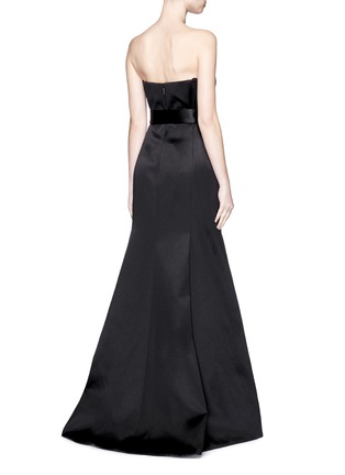 Back View - Click To Enlarge - JASON WU - Silk-cotton sateen belted strapless gown