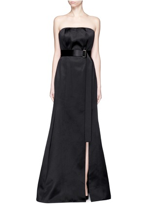 Main View - Click To Enlarge - JASON WU - Silk-cotton sateen belted strapless gown