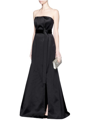 Figure View - Click To Enlarge - JASON WU - Silk-cotton sateen belted strapless gown