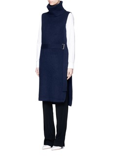 JASON WU Cashmere blend sleeveless turtleneck long sweater