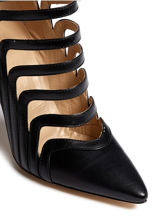 Detail View - Click To Enlarge - CHELSEA PARIS - 'Adile' caged cutout leather ankle boots