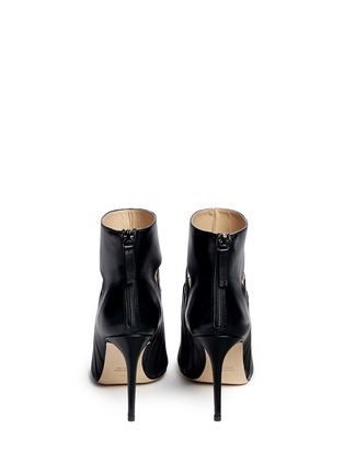 Back View - Click To Enlarge - CHELSEA PARIS - 'Adile' caged cutout leather ankle boots