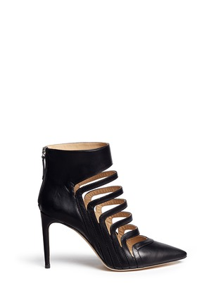 Main View - Click To Enlarge - CHELSEA PARIS - 'Adile' caged cutout leather ankle boots