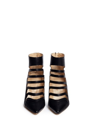 Figure View - Click To Enlarge - CHELSEA PARIS - 'Adile' caged cutout leather ankle boots