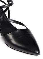 'Amora' snakeskin strap leather flats