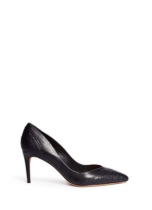 Main View - Click To Enlarge - ALEXANDRE BIRMAN - 'Billy' panelled python leather pumps