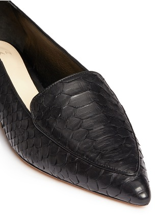 Detail View - Click To Enlarge - ALEXANDRE BIRMAN - 'Biancca' python leather flats