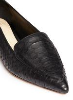 'Biancca' python leather flats