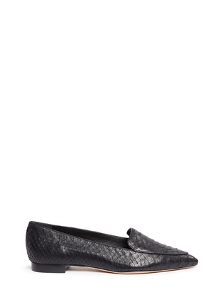 Main View - Click To Enlarge - ALEXANDRE BIRMAN - 'Biancca' python leather flats
