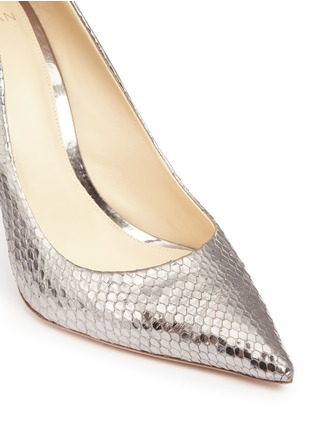Detail View - Click To Enlarge - ALEXANDRE BIRMAN - 'Olga' metallic python leather pumps