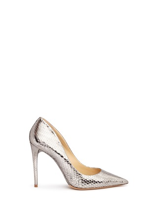 Main View - Click To Enlarge - ALEXANDRE BIRMAN - 'Olga' metallic python leather pumps