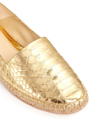 Detail View - Click To Enlarge - ALEXANDRE BIRMAN - 'Marla' metallic python leather espadrilles