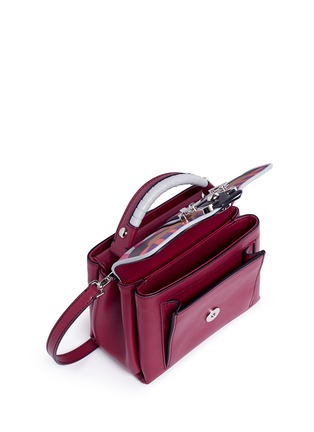 Detail View - Click To Enlarge - PAULA CADEMARTORI - 'Dun Dun' mini colourblock leather satchel