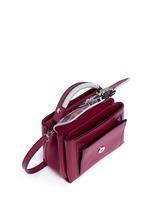 'Dun Dun' mini colourblock leather satchel