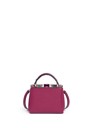 Back View - Click To Enlarge - PAULA CADEMARTORI - 'Dun Dun' mini colourblock leather satchel