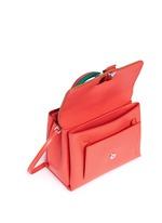 'Petite Faye' lizard embossed leather colourblock satchel