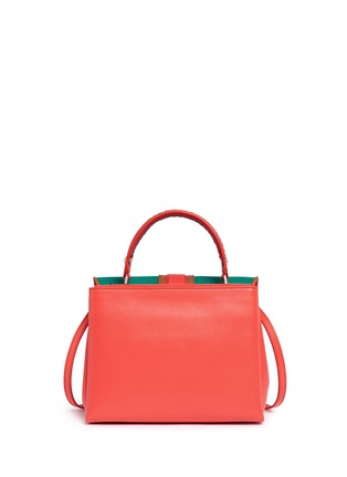 Back View - Click To Enlarge - PAULA CADEMARTORI - 'Petite Faye' lizard embossed leather colourblock satchel