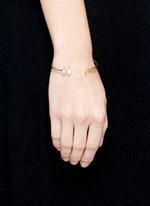 Olivia' 18k gold diamond pavé opal cuff