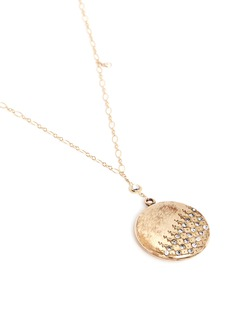 Antique Lockets White quartz 14k gold antique round locket necklace