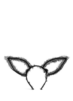 Main View - Click To Enlarge - Maison Michel - 'Heidi' frayed tulle rabbit ear headband