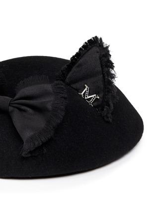 Detail View - Click To Enlarge - Maison Michel - 'Bibi Yoko' satin cat ear bow cocktail hat