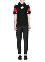 Star appliqué colourblock polo shirt