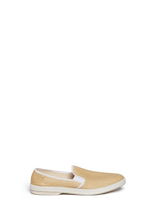 Main View - Click To Enlarge - RIVIERAS - 'Montecristi Blanc' raffia skate slip-ons