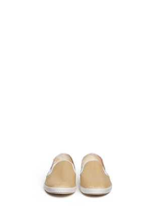 Figure View - Click To Enlarge - RIVIERAS - 'Montecristi Blanc' raffia skate slip-ons
