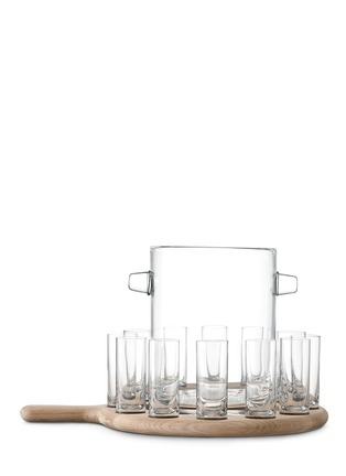 Main View - Click To Enlarge - Lsa - Paddle oak paddle and vodka glass set