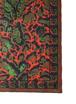 Leopard and skull print silk scarf