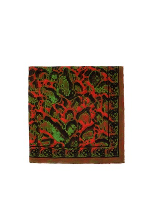 Alexander McQueen-Leopard and skull print silk scarf