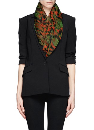 Figure View - Click To Enlarge - Alexander McQueen - Leopard and skull print silk scarf