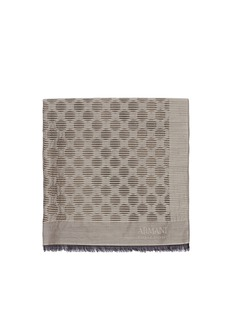 ARMANI COLLEZIONI Sheer polka dot textured stripe scarf