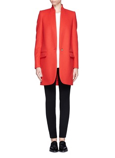 STELLA MCCARTNEYInverted lapel wool blend coat