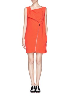 STELLA MCCARTNEY Diagonal zip dress