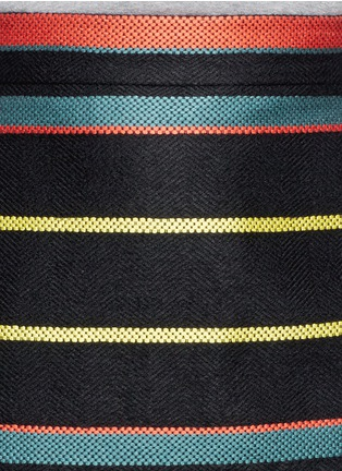 Detail View - Click To Enlarge - Givenchy - Basket weave stripe pencil skirt