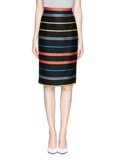 GIVENCHYBasket weave stripe pencil skirt