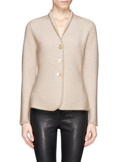 ARMANI COLLEZIONIRib knit jacket