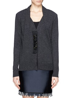 LANVIN Embroidery placket wool cardigan