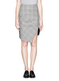 STELLA MCCARTNEYHoundstooth wool skirt