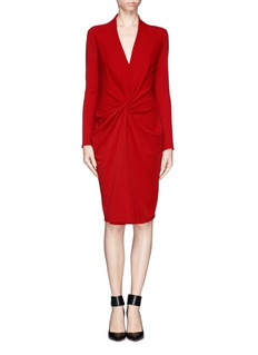LANVIN Twist front knit dress