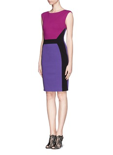 EMILIO PUCCI Angle colour-blocked stretch knit dress