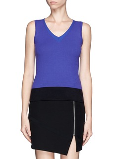 ARMANI COLLEZIONI Colourblock sleeveless knit top